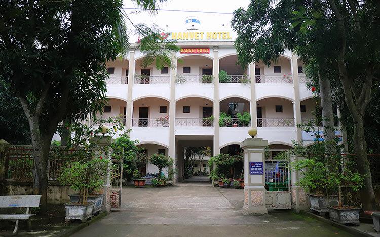 Khách sạn ở xã Xuân Thành, nơi anh Phúc nhường cho chính quyền làm chỗ cách ly người trở về từ vùng dịch. Ảnh: Đức Hùng