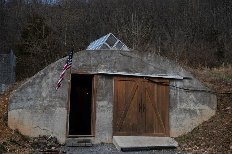 Một boongke của Fortitude Ranch ở Mathias, bang West Virginia, Mỹ. Ảnh: AFP