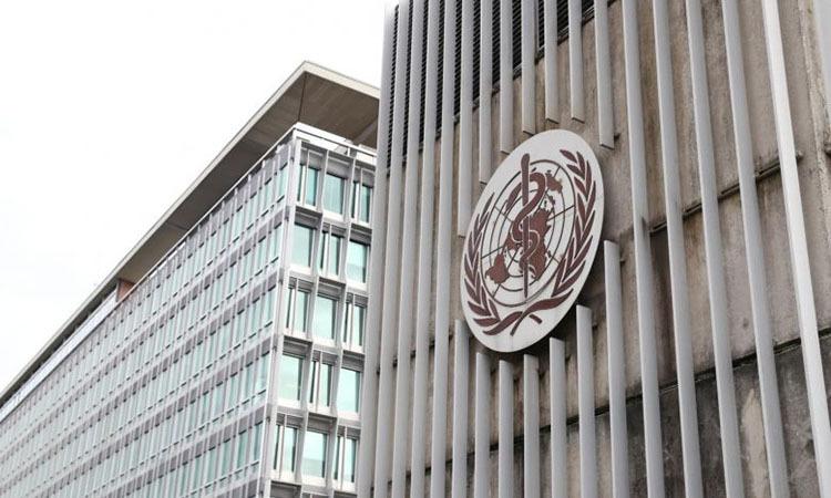 Trụ sở WHO tại Geneva, Thụy Sĩ hôm 30/1. Ảnh: Reuters.