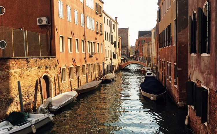 Thành phố Venice, vùng Veneto, một trong những tâm dịch tại Italy, thưa thớt khách du lịch ngày 10/3. Ảnh: Nguyễn Hà Thu.