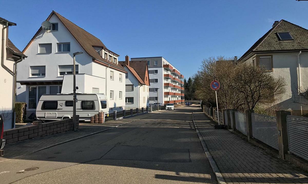 Đường phố tại Baden-Wurttemberg vắng vẻ ngày 18/3. Ảnh: Ngọc Mai.