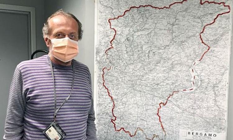 Angelo Giupponi, người đứng đầu dịch vụ cứu thương của Bệnh viện Papa Giovanni XXIII, thành phố Bergamo. Ảnh: WSJ.