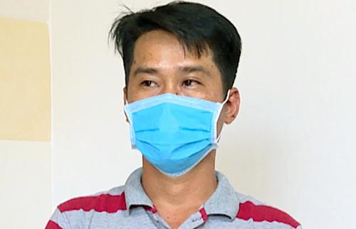 Lê Hải Đăng tại cơ quan công an. Ảnh: Quang Bình.