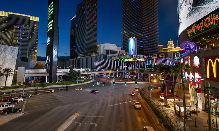 Đường phố Las Vegas hôm 16/3. Ảnh: Las Vegas Review-Journal.