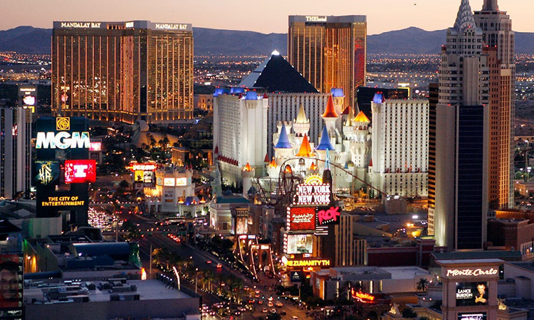 Một góc Dải Las Vegas của thành phố Las Vegas, bang Nevada, Mỹ. Ảnh: AP.