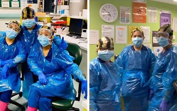Các y tá tại bệnh viện Northwick Park, London. Ảnh: Telegraph