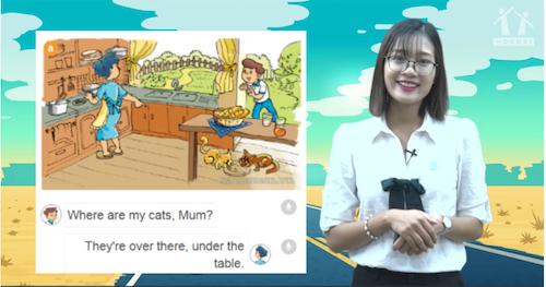 Hình ảnh trong mộtbài giảng trực tuyến môn Tiếng Anh của côJenny Tú Anh.