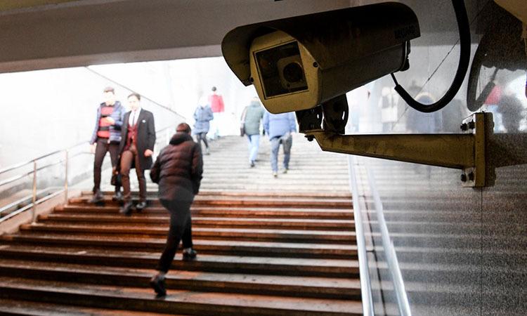 Một camera giám sát lắp đặt tại Moskva, Nga hồi tháng một. Ảnh: AFP.