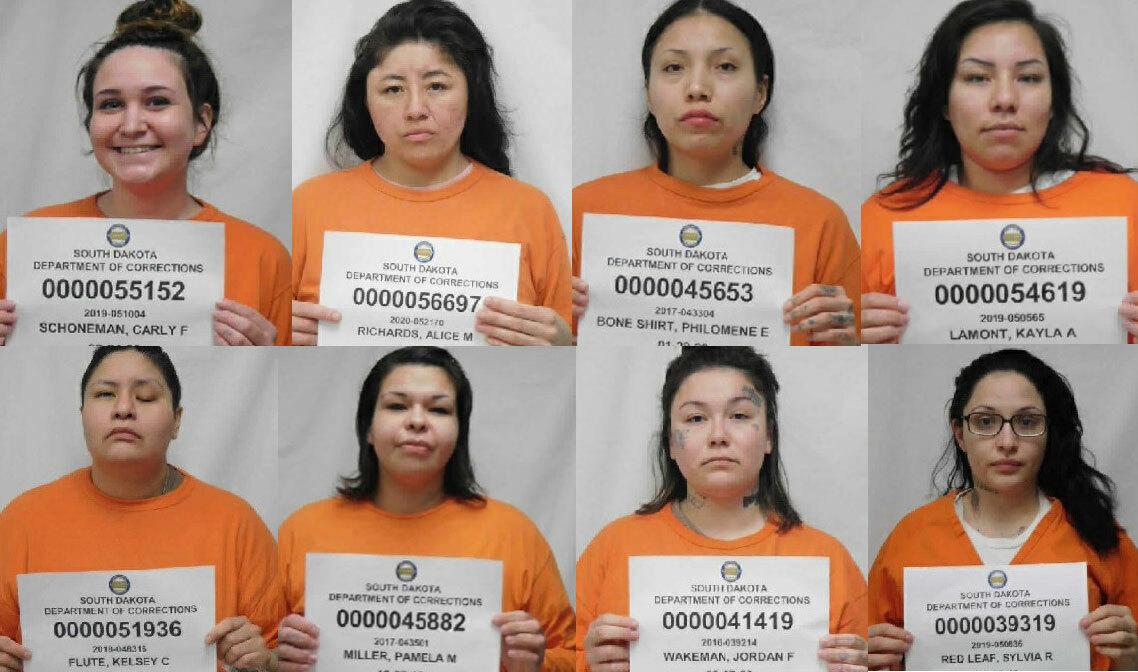Nhà chức trách công bố ảnh của 8 trên 9 nữ phạm nhân bỏ trốn. Ảnh: South Dakota Department of Corrections.