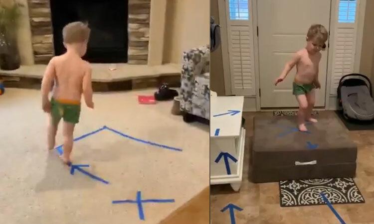 Mẹ trẻ thử thách con trai tại nhà -