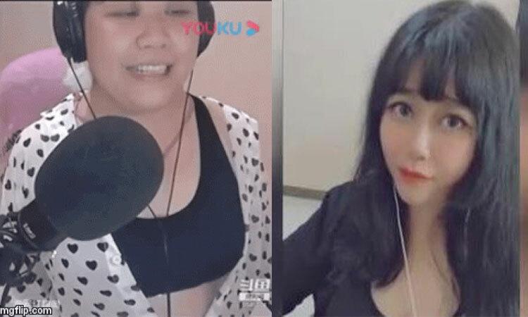 Nữ streamer khiến fan nam bỏ chạy vì lộ mặt thật