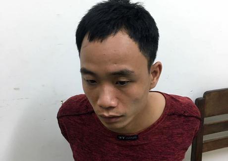 Nguyễn Hữu Việt tại cơ quan điều tra. Ảnh: Công an cung cấp.