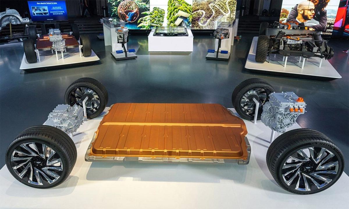 GM giới thiệu kết cấu và hệ thống pin mới, Ultium, hôm 4/3 tại Michigan, Mỹ. Ảnh: GM