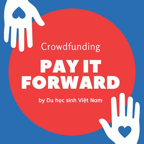 Logo dự án Pay It Forward by Du học sinh Việt Nam. Ảnh: Nhân vật cung cấp.