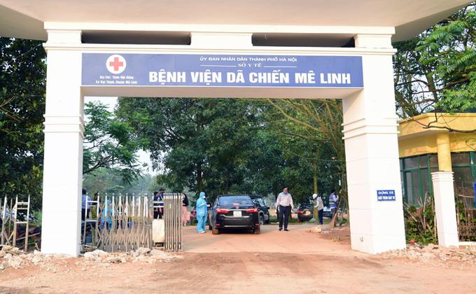 Hà Nội cải tạo bệnh viện Mê Linh cũ thành bệnh viện dã chiến, phục vụ phòng chống Covid-19, cuối tháng 3/2020. Ảnh: Viết Thanh
