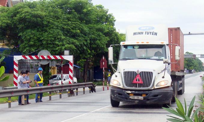 Trạm cân 30 tỷ tự động kiểm tra tải trọng xe - VnExpress