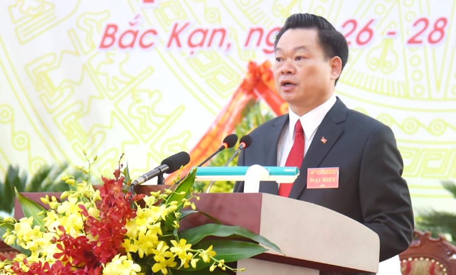 Tân Bí thư Tỉnh ủy Bắc Kạn Hoàng Duy Chinh. Ảnh: Báo Bắc Kạn.
