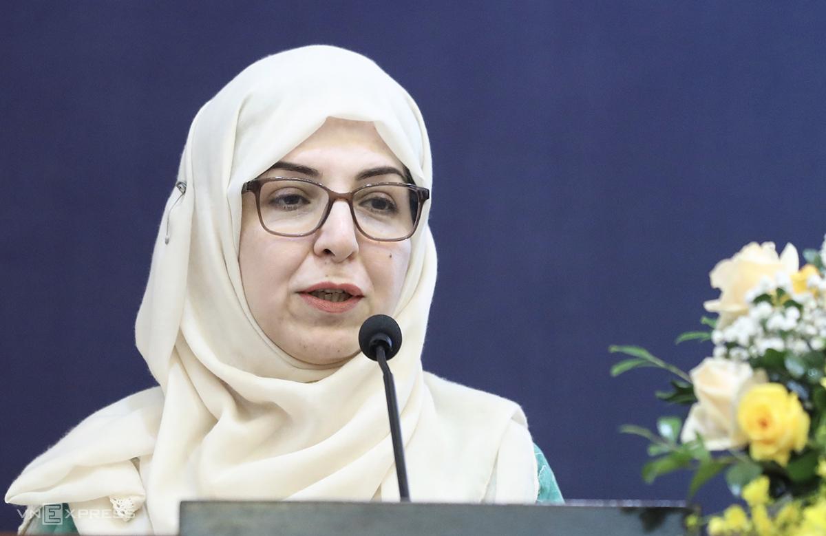 Bà Sitara Syed kỳ vọng các giải pháp AI sẽ hỗ trợ doanh nghiệp vượt qua đại dịch. Ảnh: Ngọc Thành.