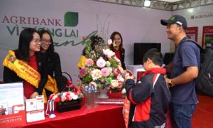 Nhiều người trải nghiệm gian hàng VnExpress Marathon Huế