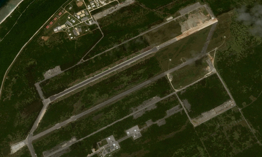 Căn cứ Northwest Field trong quá trình cải tạo năm 2018. Ảnh: Google Earth.