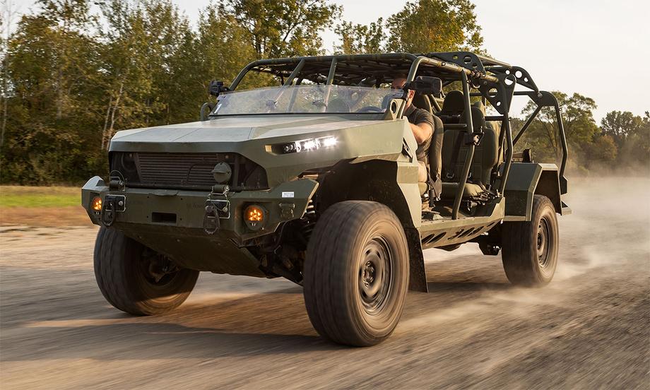 Xe quân sự ISV trong một cuộc thử nghiệm. Ảnh: GM.