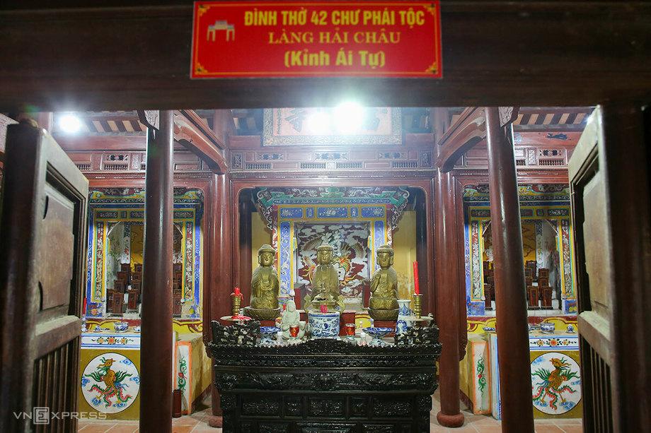 Đình làng Hải Châu, nơi thờ 42 chư phái tộc ở Đà Nẵng. Ảnh: Nguyễn Đông.
