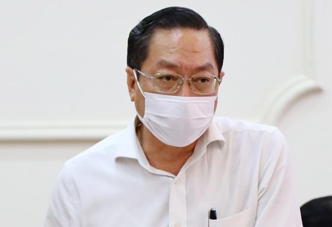 Giám đốc Sở Y tế TP HCM Nguyễn Tấn Bỉnh. Ảnh: Trung Sơn.