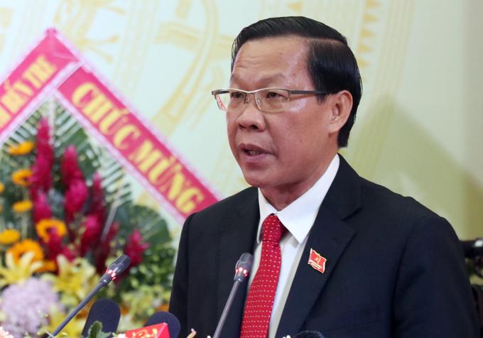 Tân Phó bí thư Thành uỷ TP HCM Phan Văn Mãi. Ảnh: Hoàng Nam.