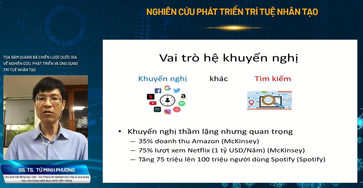 GS. TS Từ Minh Phương giới thiệu  về hệ khuyến nghị.