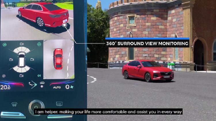 VinAI công bố tính năng quan sát toàn cảnh 360 độ cho dòng xe thông minh. Ảnh: Chụp màn hình